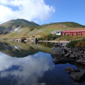深まる秋の色 白馬大池から白馬岳